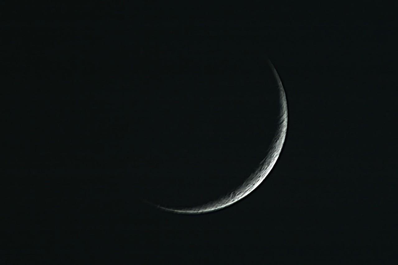 Moon closeup. Image by Dan McKeel -5-18-07.