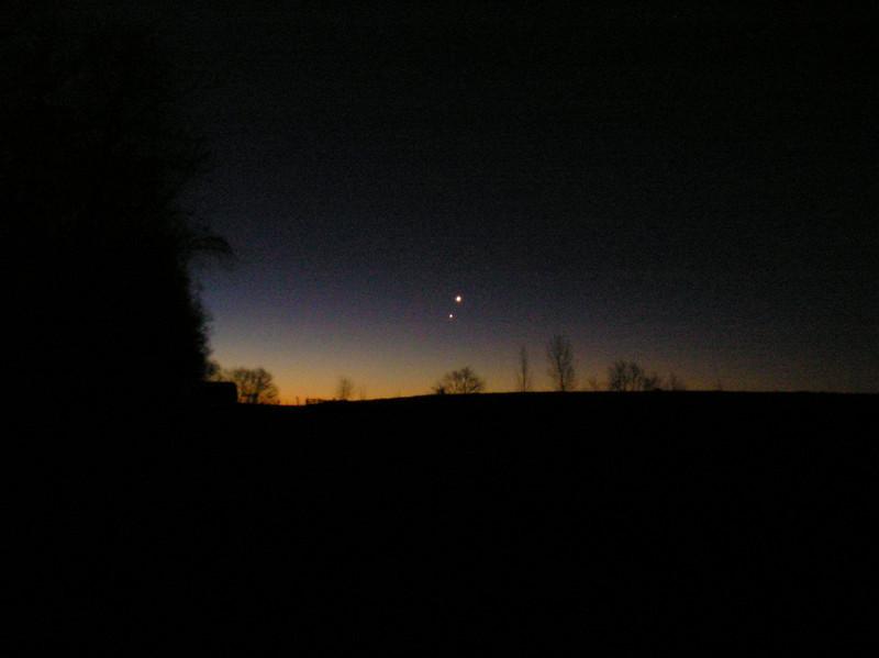 Taken before dawn - Venus & Jupiter conjunction 1-31-08 Jim and Renee Klueber - OLYMPUS DIGITAL CAMERA