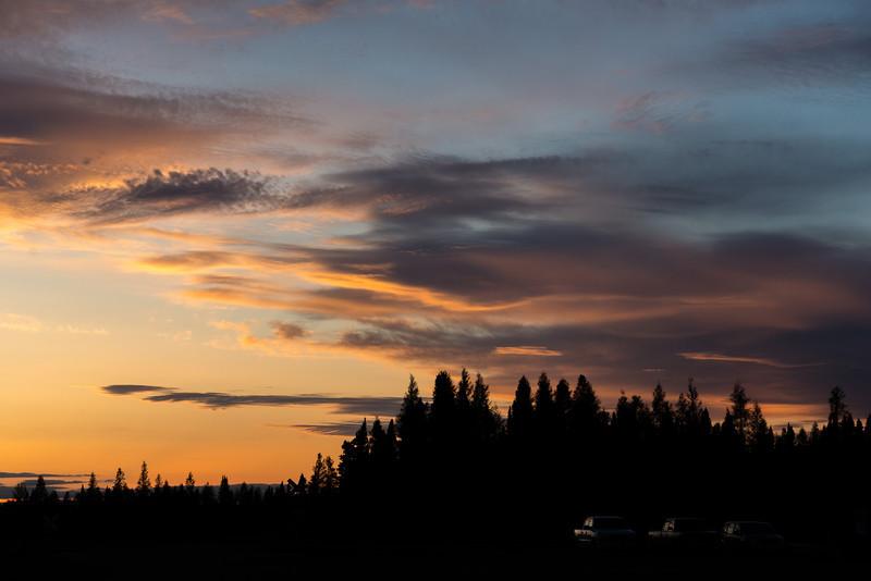 Sky around sunset.