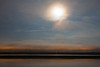 Looking across the Moose River from Moosonee under a full moon.
