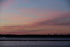 Some colour in the sky before sunrise, looking across the Moose River from Moosonee.