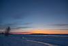 Moose River shoreline at Moosonee before sunrise.