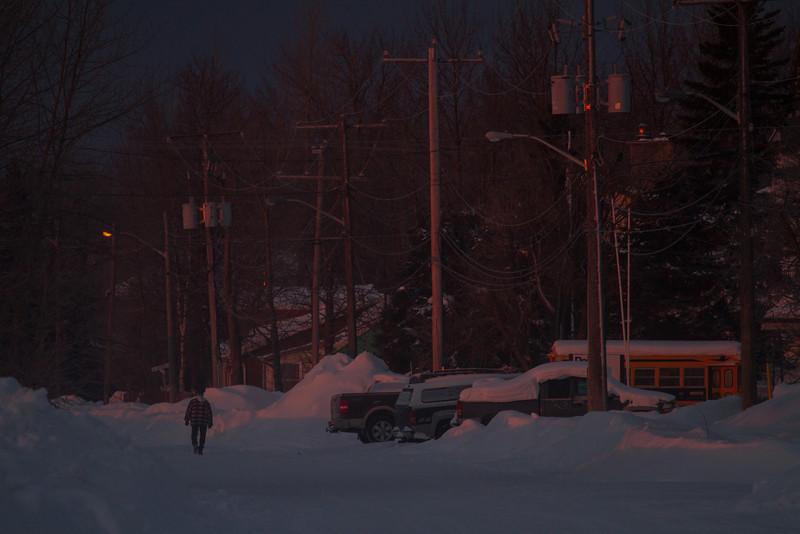 Revillon Road in Moosonee at sunrise