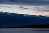 Dark clouds down the Moose River at Moosonee.