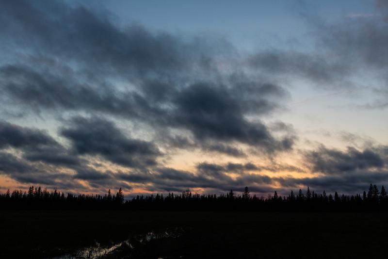 Just before sunset in Moosonee.