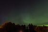 Aurora borealis over Moosonee. Meteor.