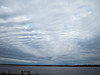 Long thin clouds over the Moose River.