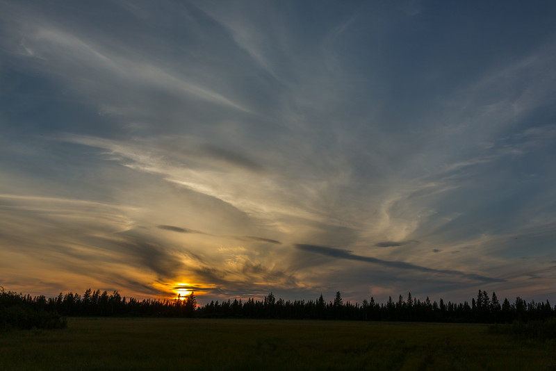 Sky before sunset.