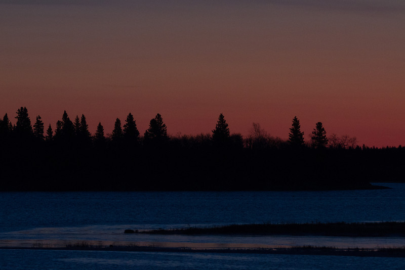 South end of Butler Island before sunrise on a cold morning.