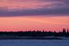 Looking across the Moose River from Moosonee just before sunrise.