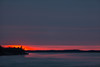 Sunrise down the Moose River at Moosonee.