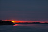 Sunrise down the Moose River at Moosonee.