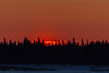 Surnise above Charles Island, across the Moose River from Moosonee.