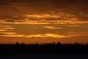 Sky before sunrise looking across the Moose River from Moosonee.