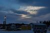 Clouds to the Northeast of Moosonee over DeBeers yard.