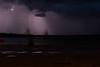 Storm across the Moose River tonight. Bit of lightning.