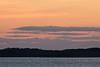 Morning sky down the Moose River from Moosonee.