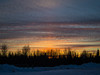 Sky views after sunset from Moosonee train station.