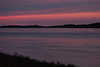 Sky before sunrise in Moosonee, looking down the Moose River. Cloudy.
