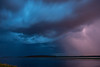 Storm across the Moose River tonight.