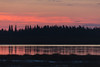 Sky before sunrise across the Moose River from Moosonee.
