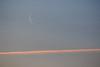 Faint moon the sky above streak.
