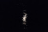 Reflection of the moon on the waters of the Moose River at Moosonee.
