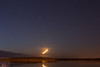 700 second exposure. Moon rising over Butler Island. 2014 May 23