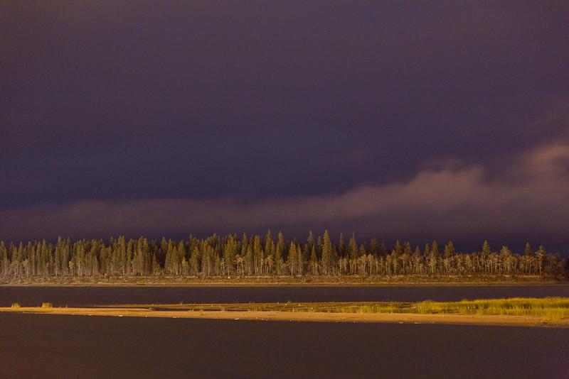 Sandbar and Butler Island by night.