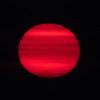Red sun in the sky.