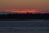 Looking across the Moose River from Moosonee just before sunrise.