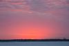 Looking across the Moose River at Moosonee before sunrise.