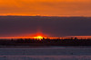 Sunrise at Moosonee, looking across the Moose River. 2013 December 4