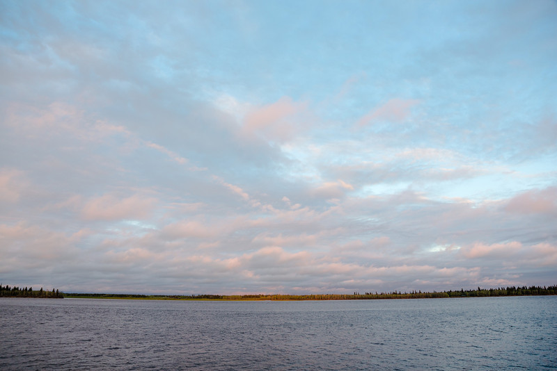 Looking east across the Moose River just before sunset.