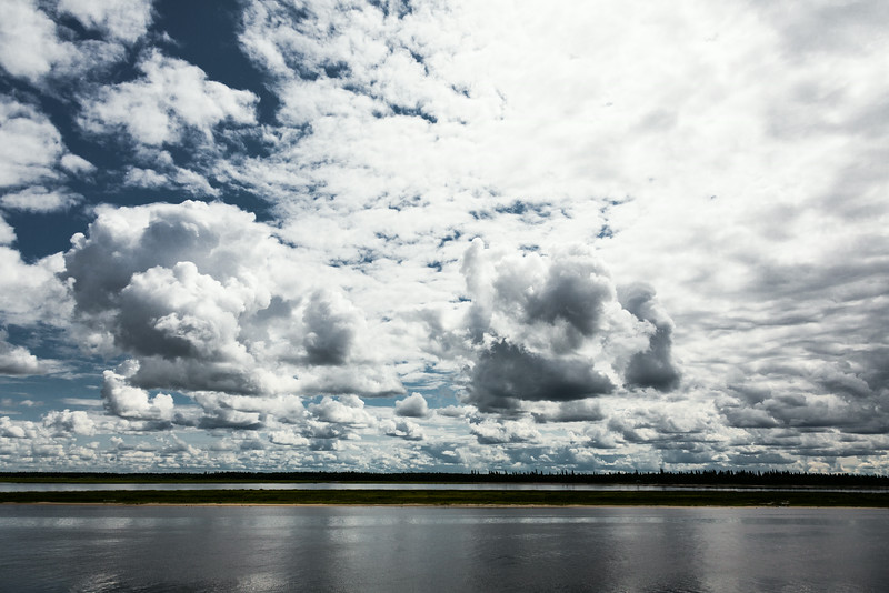 Clouds over the Moose River. No polarizer.