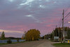 Colourful skies over Moosonee before sunrise. Looking up Revillon Road.