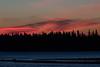 Red sky over Butler Island before sunrise.