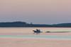 Boat crossing to Moosonee before dawn.