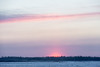 Sunrise over the Moose River seen from Moosonee.
