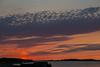 Sky before sunrise looking down the Moose River at Moosonee.