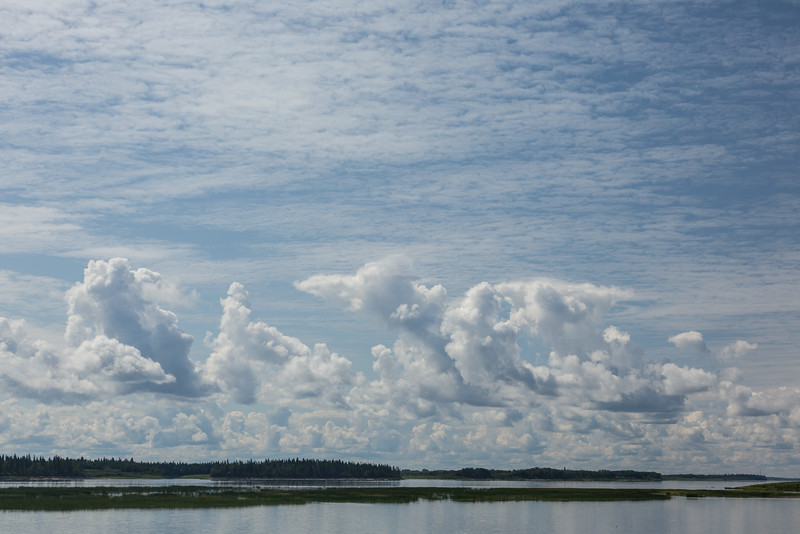 Clouds over the Moose River. Polarizer used.