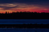Red sky across the Moose River before sunrise.