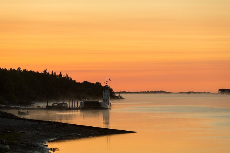 """Looking down the Moose River before down towards marine railway and dock for barge Niska I. """"Colour corrected"""""""