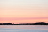 View down and across the Moose River before sunrise.
