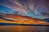 Sunrise at Moosonee on the Moose River. HDR efx dark.
