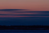 Colour in the sky across the Moose River from Moosonee, half an hour before sunrise.