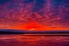 Sky and water before sunrise at Moosonee. HDR efx dark.