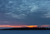 Sunrise over the Moose River at Moosonee.