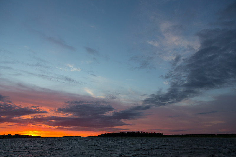 Before sunrise looking down the Moose River and towards Butler Island.