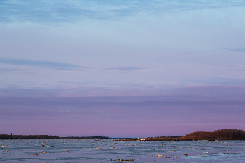 Looking up the Moose River around sunrise.